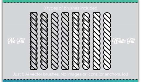 Illustrator Rope Pattern Brush Download | 20 must have illustrator add ons for designers