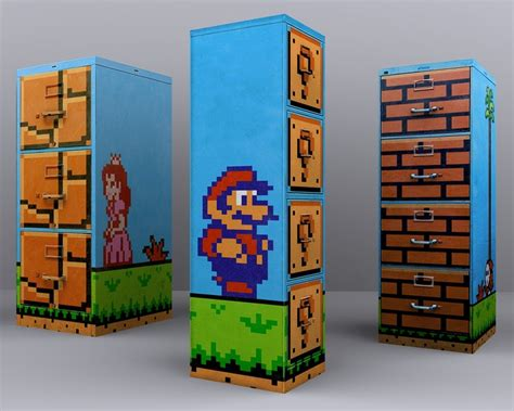 Mario Bedroom Decorative Items Mario Filing Cabinets Kidsomania