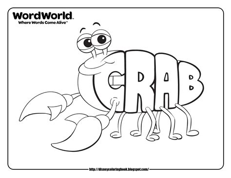 disney coloring pages and sheets for kids wordworld 2