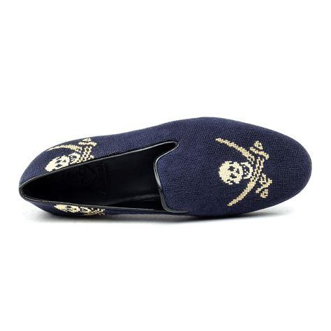 needlepoint navy needlepoint slipper navy skull 39 animas code