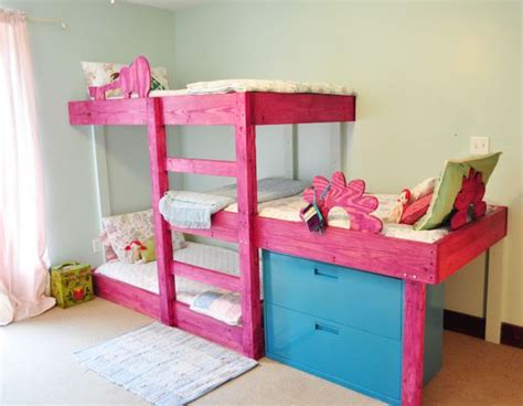 bunk beds for 3 kids hand crafted triple bunk beds for the kids