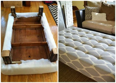 coffee table into how to turn a coffee table into an ottoman home and diy