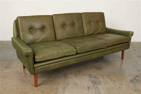 Century Leather Sofa Tufted Mid Century Leather Sofa By Skipper Mobler At 1stdibs