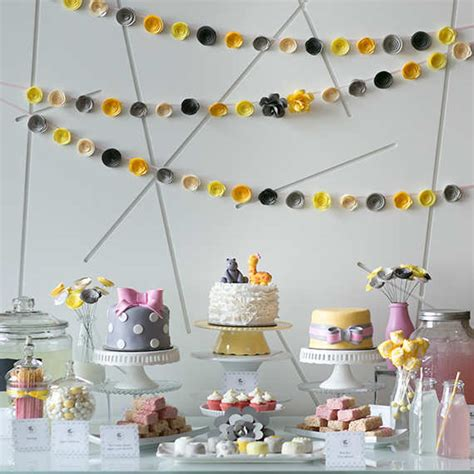 yellow baby shower yellow and gray pottery barn kids 10 baby shower settings tinyme blog