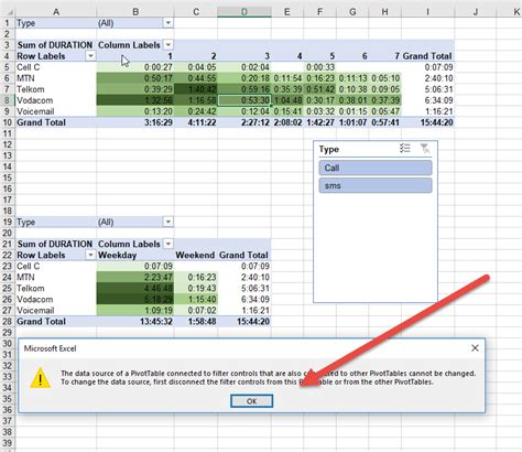 Pivot Table Change Data Source Understand To Change The Data Source Disconnect The Filter Controls Auditexcel Co Za