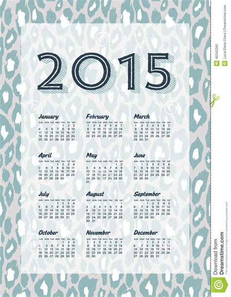 leopard print desk calendar calendar print template your logo and text week starts