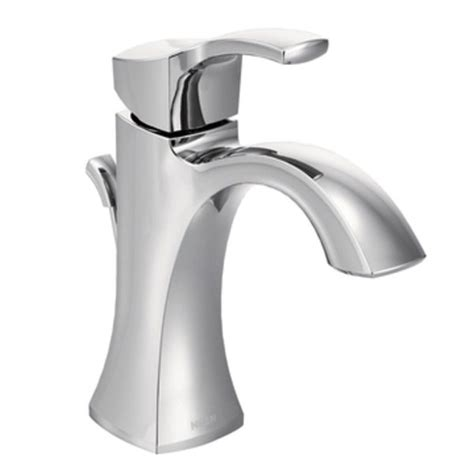 moen voss one handle high arc bathroom faucet with drain