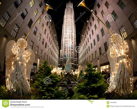 weihnachtsbaum new york redaktionelles foto bild 12045631