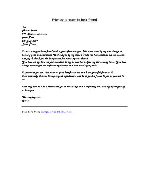 best friend letters format of letter writing to friend best template collection