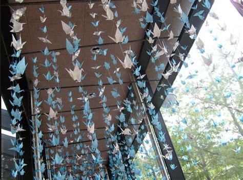 1000 Origami Cranes Wedding - kraanvogel gordijn paper origami ideas