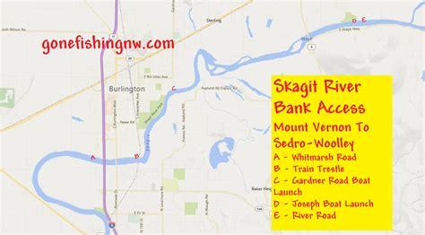 skagit river fishing map pink salmon skagit river bank access mount vernon to