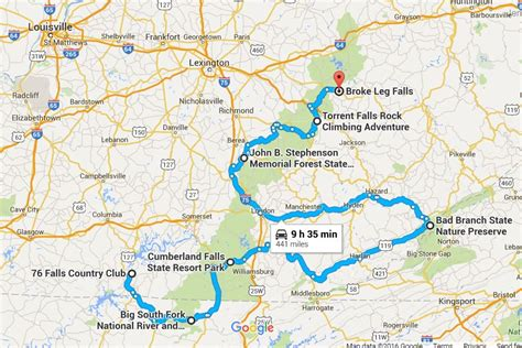 kentucky falls map the ultimate kentucky waterfall road trip