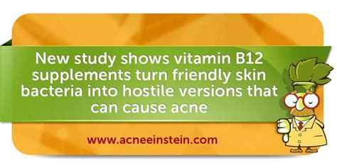 Vitamin Acne warning study shows vitamin supplement causes acne