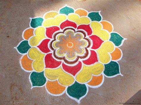simple pattern of rangoli rangoli designs for ugadi festival