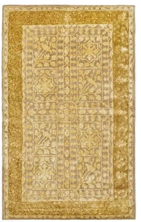 3 X5 Area Rugs traditional silk road 3 x5 rectangle beige light gold area rug traditional rugs by rugpal