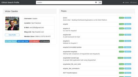Github Search Github Profile Search Angular Expo