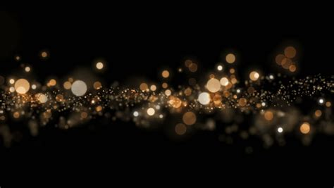 black and gold lights space gold background with particles space gold dust with