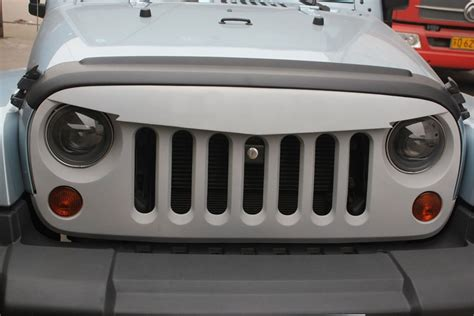 jeep wrangler front grill angry bird sport front hood grille 07 17 jeep wrangler jk