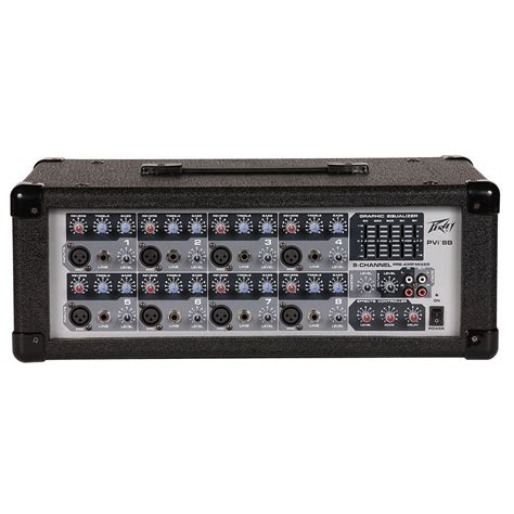 Power Mixer Q8p 8channel peavey pvi8b mixer 8 channel powered live audio pre mixer
