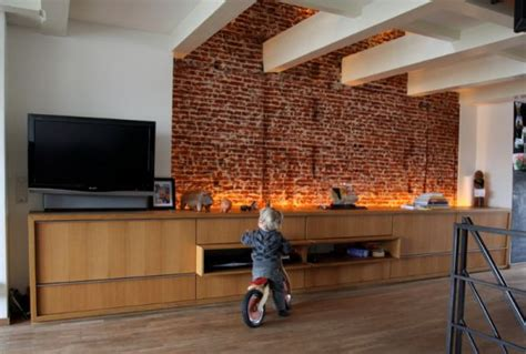 brick wall in living room how to integrate exposed brick walls into your interior d 233 cor