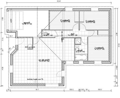 Plan De Maison Design by Plan Maison Duplex Moderne Gratuit