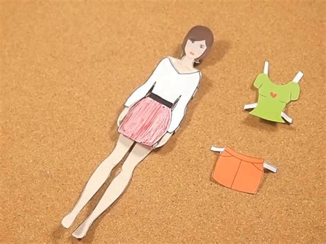 How To Make A 3d Paper Doll - how to make paper dolls 11 steps with pictures wikihow