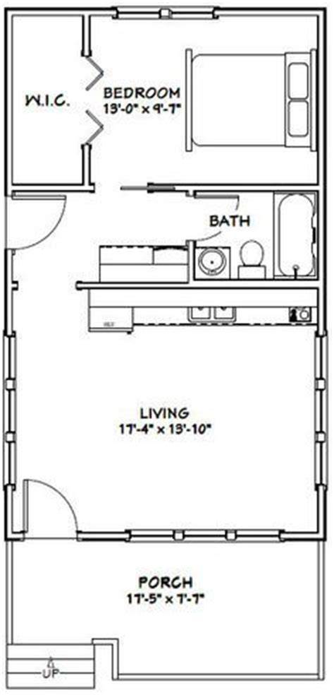 540 sq ft floor plan 16x32 tiny house 511 sq ft pdf floor plan model