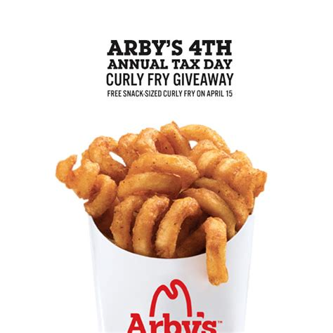 Tax Day Food Giveaways And Discounts - tax day is hard free snack sized curly fries are here to