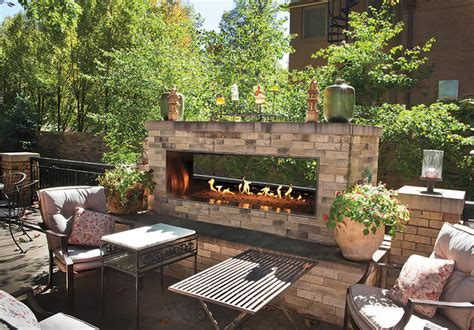 outdoor see through fireplace empire outdoor linear see through fireplace s gas