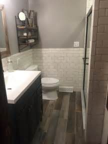 picture of rustic and industrial basement bathroom