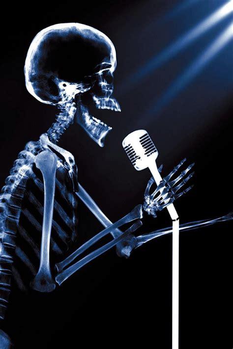 funhumor singing pop star skeleton  ray ipad iphone