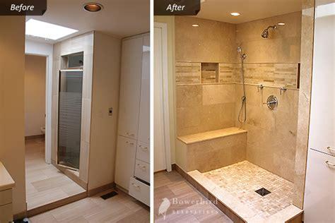 Bath To Shower Conversion bathroom renovtion in toronto luxury shower with sandy