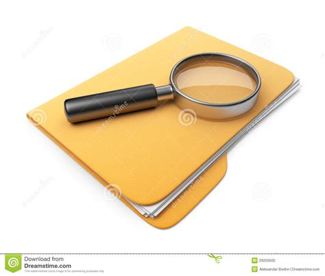 D Search Search File And Folder 3d Icon Stock Photo Image 29259500