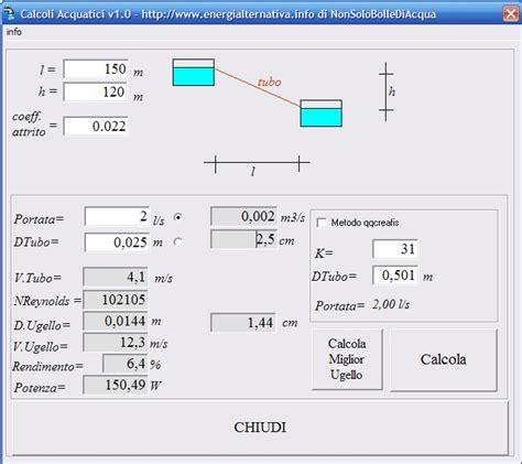 formula della portata calcolo della portata di un tubo 28 images calcolo