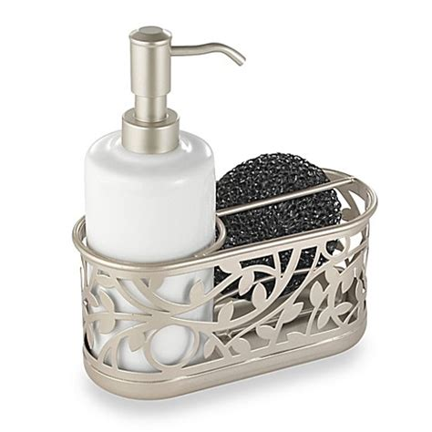 soap caddy for kitchen sink interdesign 174 vine kitchen sink soap dispenser and