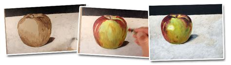 acrylic painting underpainting basic acrylic painting techniques how to paint an apple