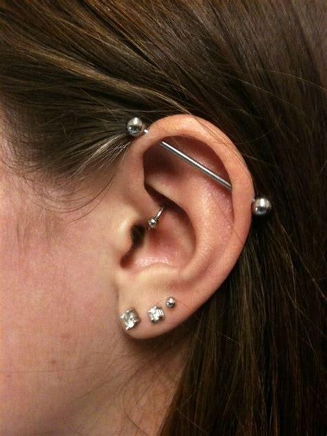 Top Ear Bar by Best 25 Industrial Piercing Ideas Only On