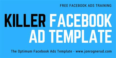 a different facebook ad template that rocks jon rognerud