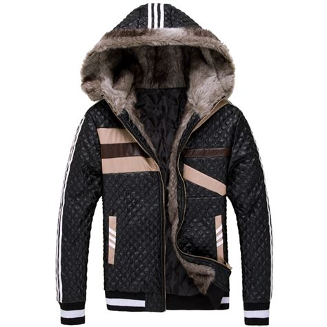Leather Jaket Exclusive Leather Hoodie 2013 winter luxury thickening s coat fur collar hooded fur leather jacket warm leather