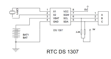 ds1307 circuit diagram real time clock circuit diagram ds1307 circuit and