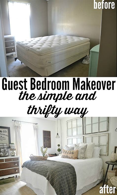 bedroom makeover on a budget guest bedroom makeover on a budget see how thrifted finds