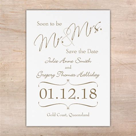 Save The Date Cards by Mr And Mrs Save The Date Cards Flamingo