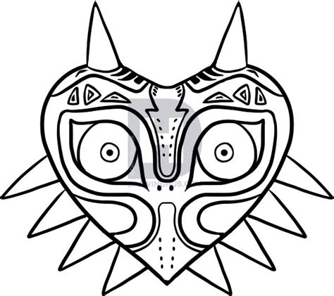 zelda triforce coloring page how to draw majoras mask step by step video game