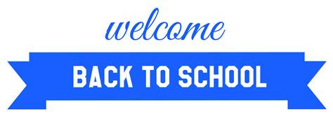 back to blue blue welcome back to school banner png image gallery