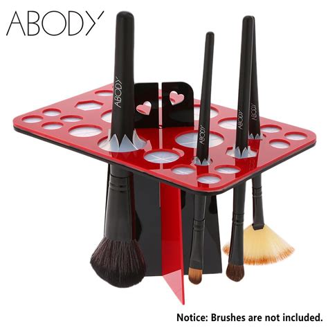 Paling Dicari Makeup Brush Drying Rack 26 makeup brush drying rack brush holder acrylic cosmetic brushes shelf organizer