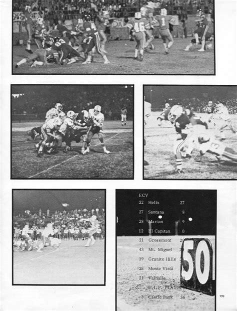 cajon jv football football yearbook pages el cajon valley high school