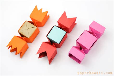 Make Paper Boxes - square origami box paper kawaii