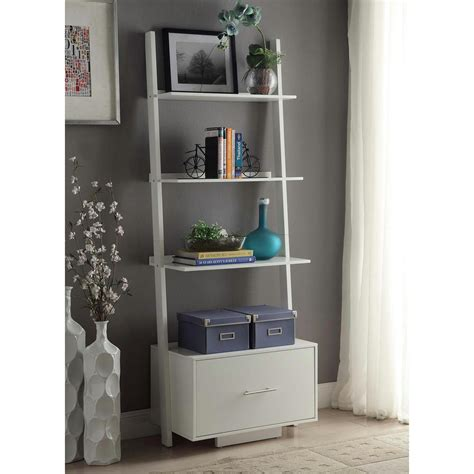 white ladder bookcase south shore axess 5 shelf bookcase in white 7250758 the home depot
