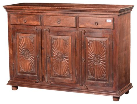 houzz sideboards traditional sunburst reclaimed wood buffet sideboard