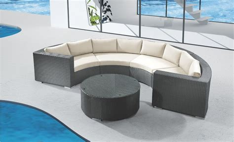 round sectional round outdoor sectional sofa outdoor wicker furniture half